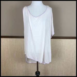 Free People Small Pluto One Shoulder Top Pink NWOT